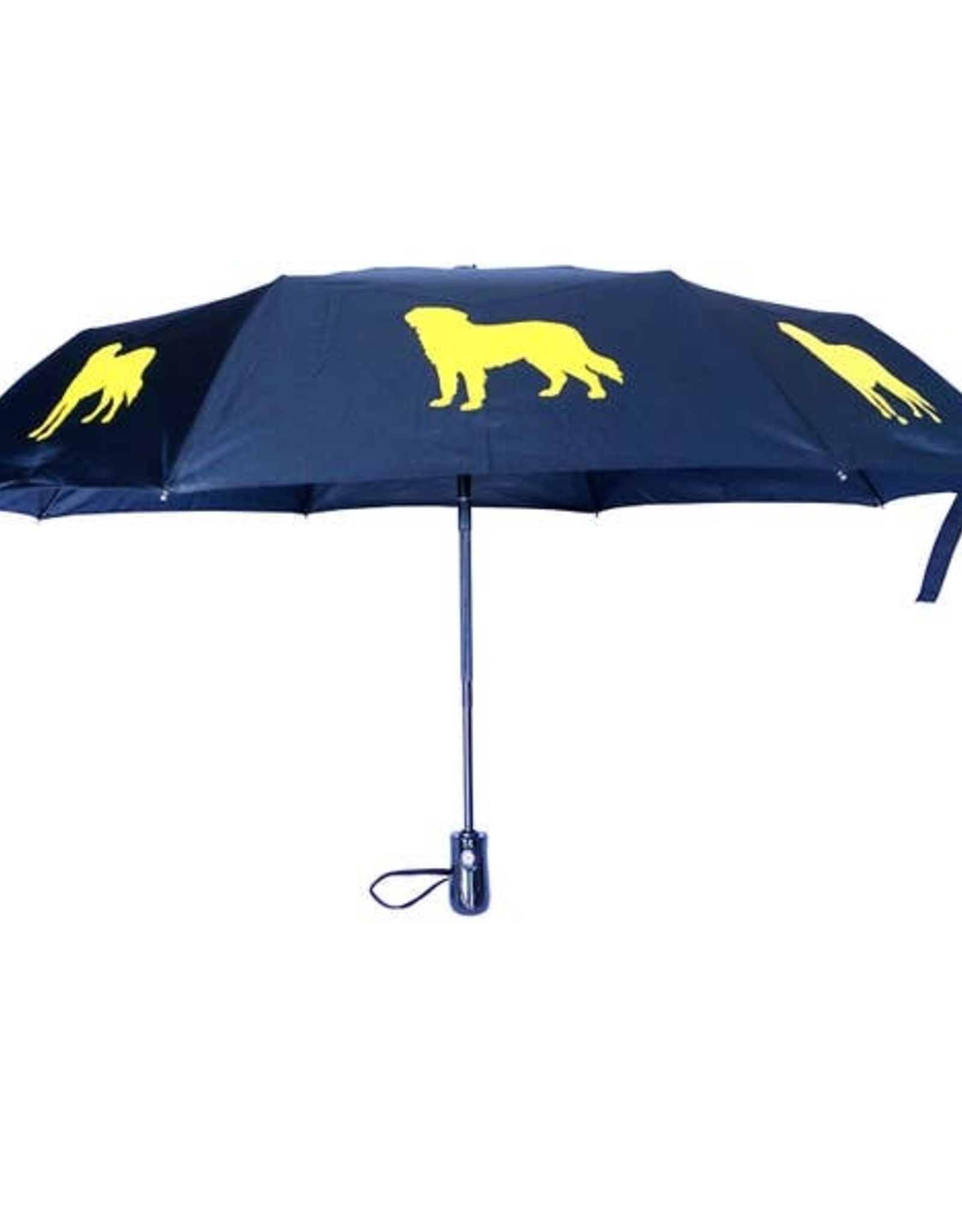 San Francisco Umbrella Company SFUC Collapsible Umbrella with Auto Open Golden Retriever
