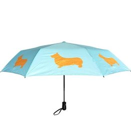 San Francisco Umbrella Company SFUC Collapsible Umbrella with Auto Open Welsh Corgi