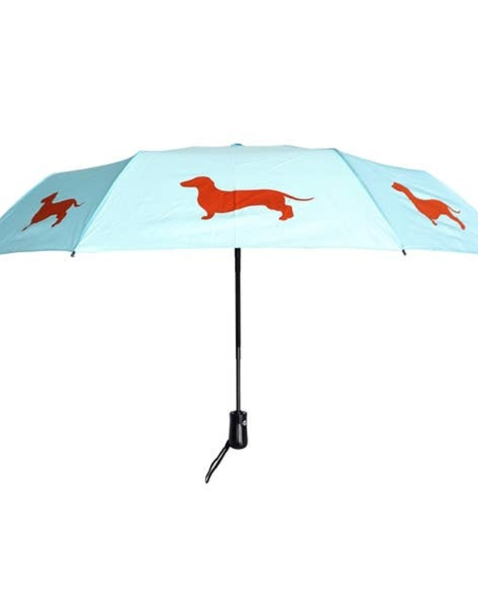 San Francisco Umbrella Company SFUC Collapsible Umbrella with Auto Open Dachshund