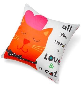 Up Country All You Need is Love and a Cat Pillow