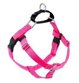 "2 Hounds Design 1"" Freedom Harness and Leash - Hot Pink"
