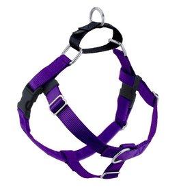 "2 Hounds Design 1"" Freedom Harness and Leash - Purple"