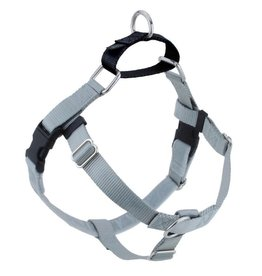 "2 Hounds Design 1"" Freedom Harness and Leash-Silver"