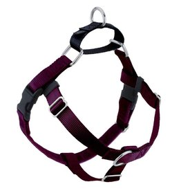 "2 Hounds Design 1"" Freedom Harness and Leash - Burgundy"