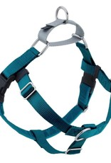 """2 Hounds Design 1"""" Freedom Harness and Leash - Teal"""