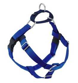 "2 Hounds Design 1"" Freedom Harness and Leash - Royal Blue"