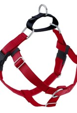 """2 Hounds Design 1"""" Freedom Harness and Leash - Red"""