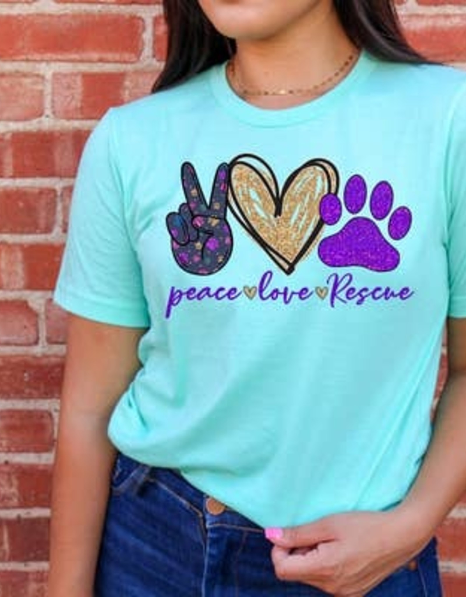 Squishy Faces Peace Love Rescue Shirt