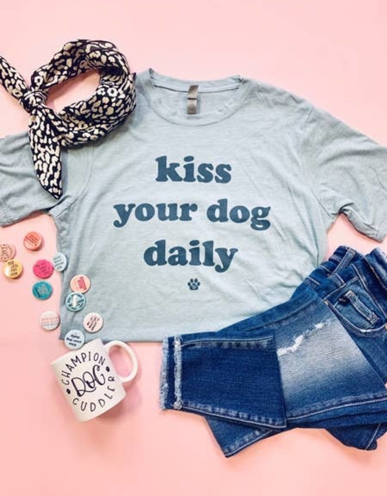 The Dapper Paw Kiss Your Dog Shirt