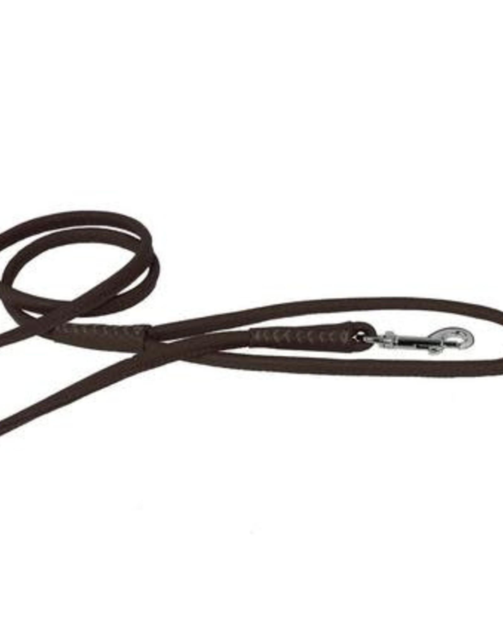 """Dogline Dogline 1/2"""" Dark Brown Leather Lead"""