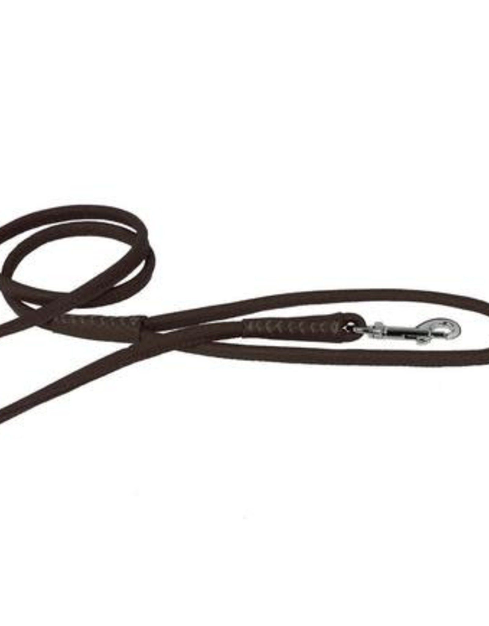 Dogline Dogline Dark Brown Leather Lead