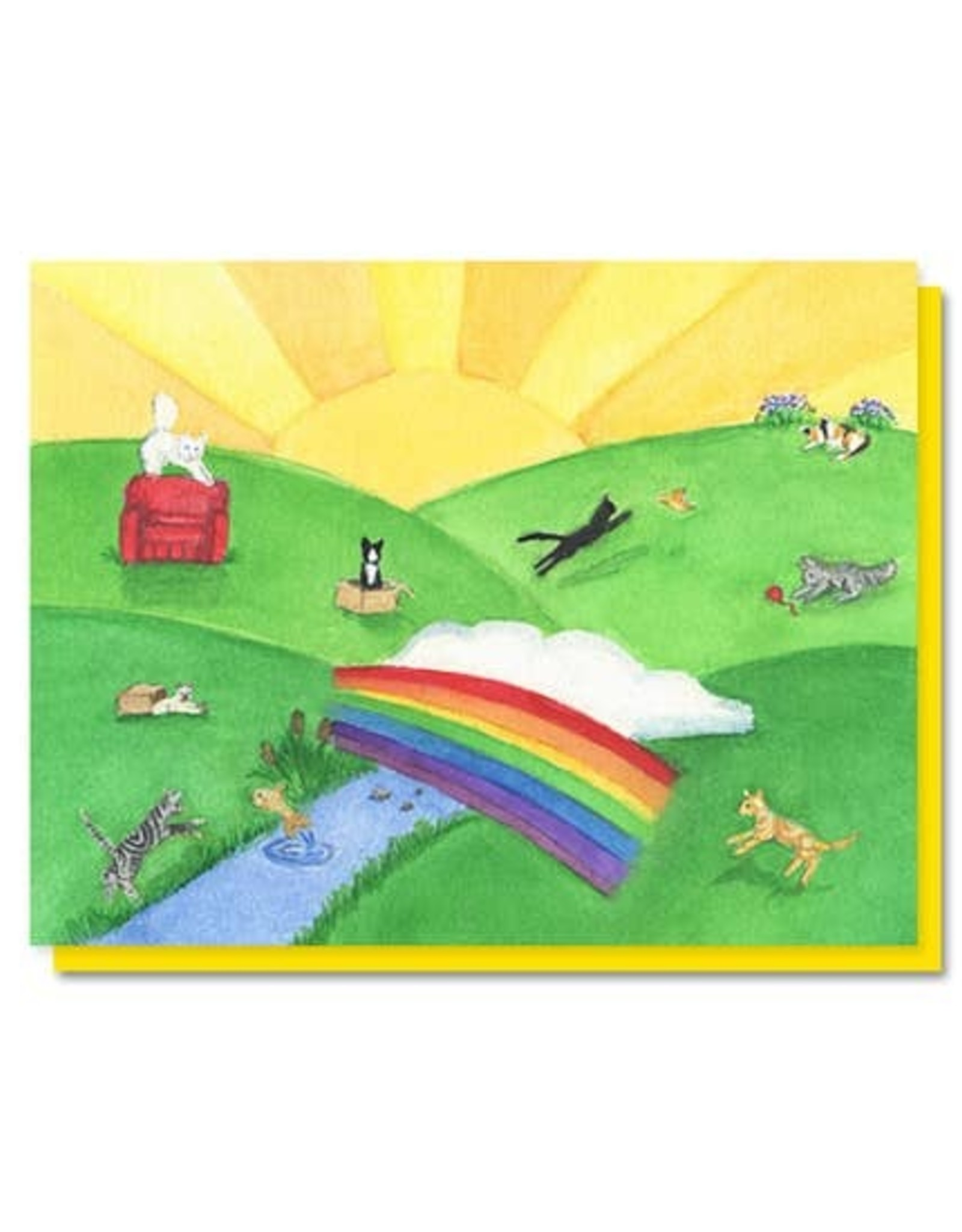 The Lavender Whim The Lavender Whim Cards Cat Rainbow Bridge Pet Sympathy Card
