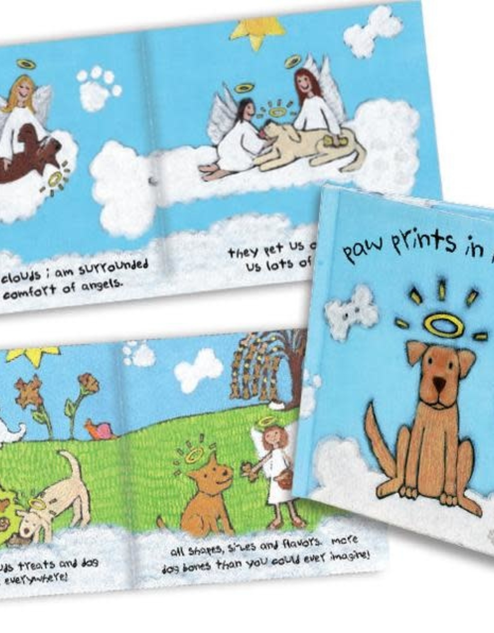 Dog Speak Paw Prints in Heaven Sympathy Book