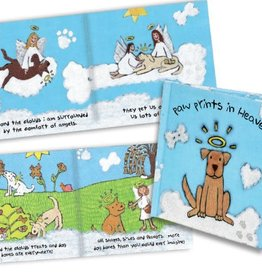 Dog Speak Paw Prints in Heaven Sympathy Book