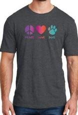 Dog Speak Peace Love Dog Shirt