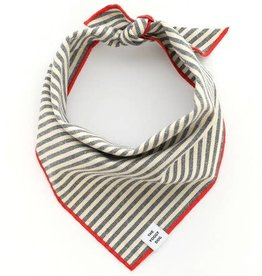 The Foggy Dog Foggy Dog Charcoal Stripe Bandana
