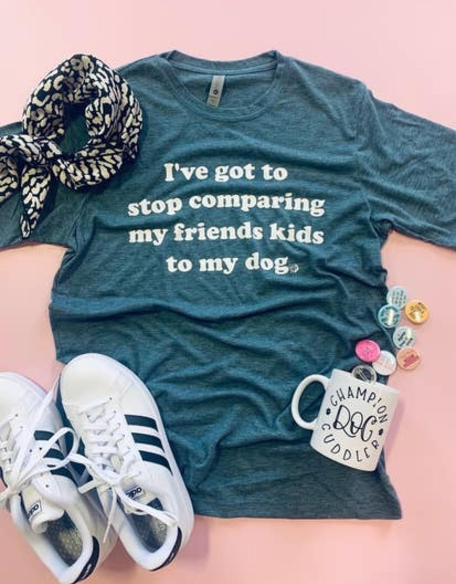The Dapper Paw Comparing My Friends Kids Shirt