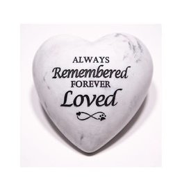 Dog Speak Always Remembered Forever Loved - Inspirational Stone Paperweight