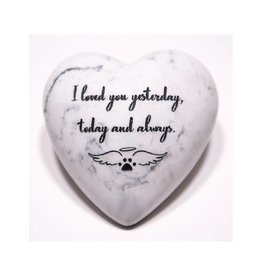 Dog Speak I Loved You Yesterday, Today and Always - Inspirational Stone Paperweight