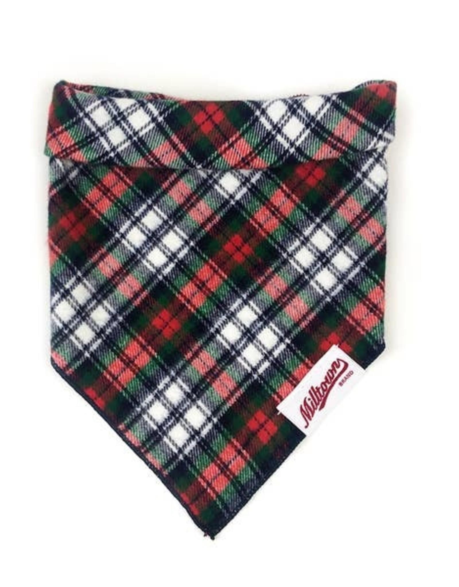 Milltown Brand Milltown Brand Soft White Plaid Flannel Bandana