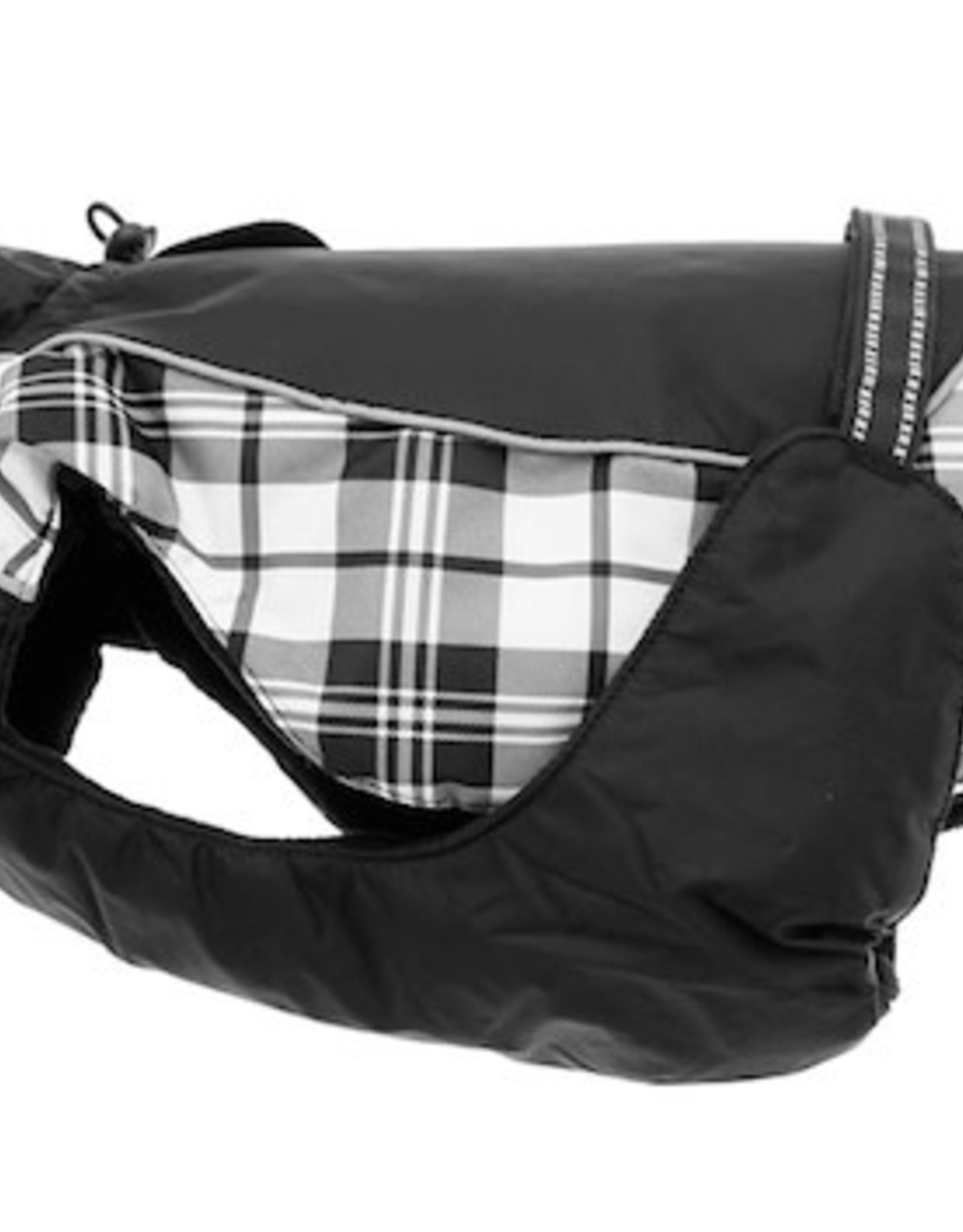 Doggie Design Alpine All-Weather Dog Coat Black & White