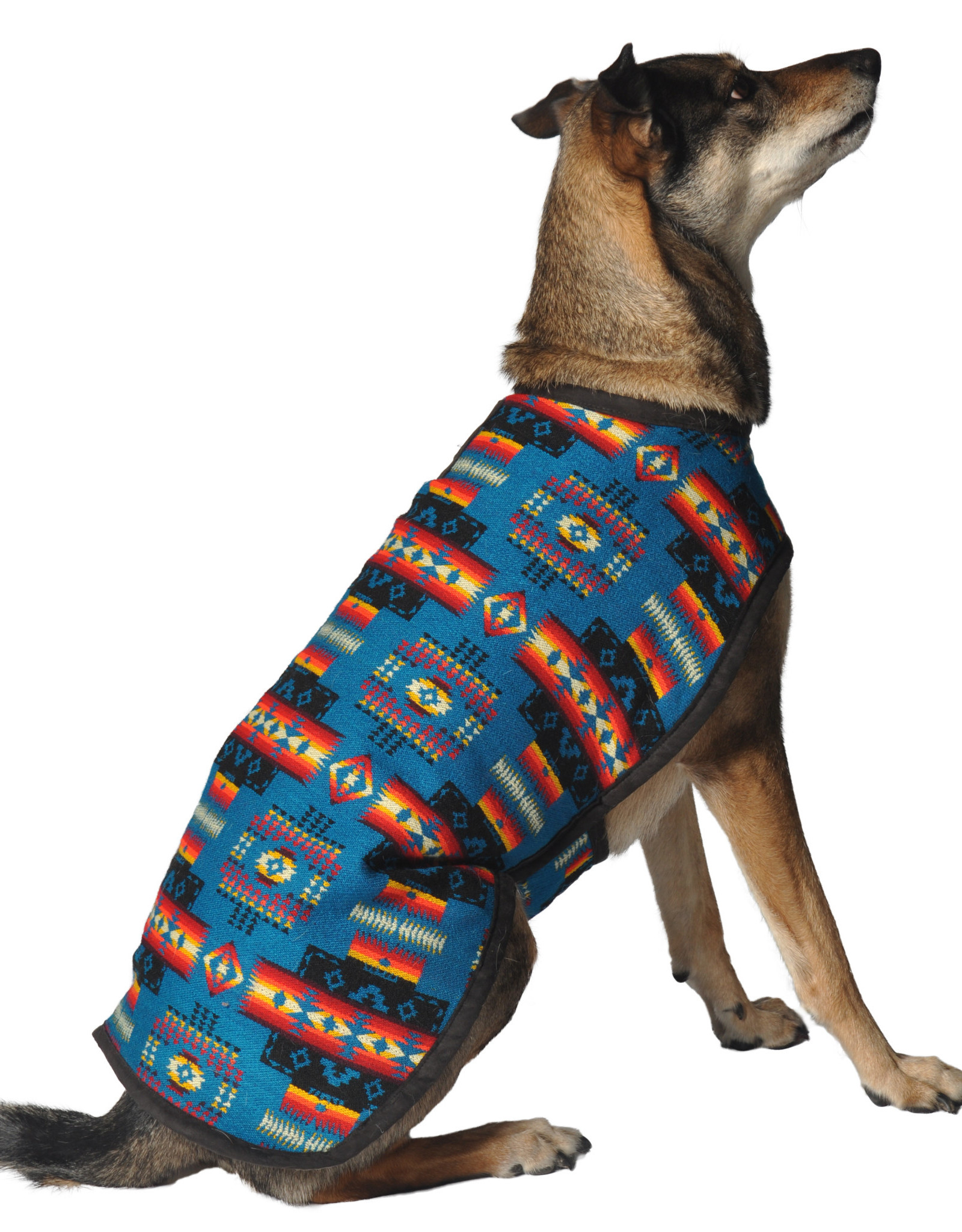 Chilly Dog Chilly Dog Turquoise Southwest Dog Blanket Coat