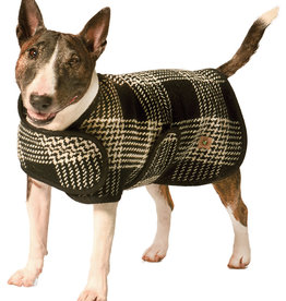 Chilly Dog Chilly Dog Blanket Coat Black & White Plaid