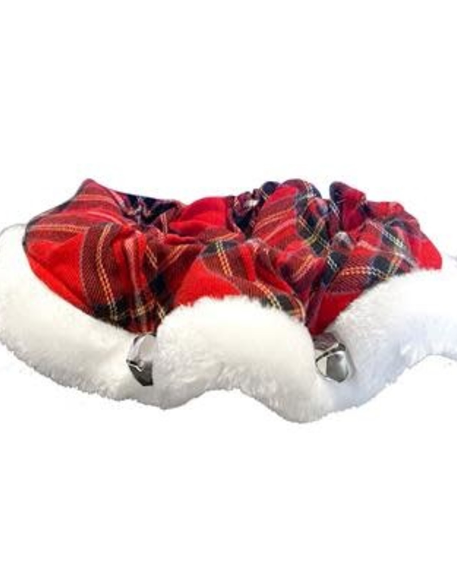 H&K H&K Tartan Red Plaid Ruff Collar