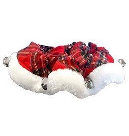 H&K H&K Tartan Red Plaid Ruff Collar