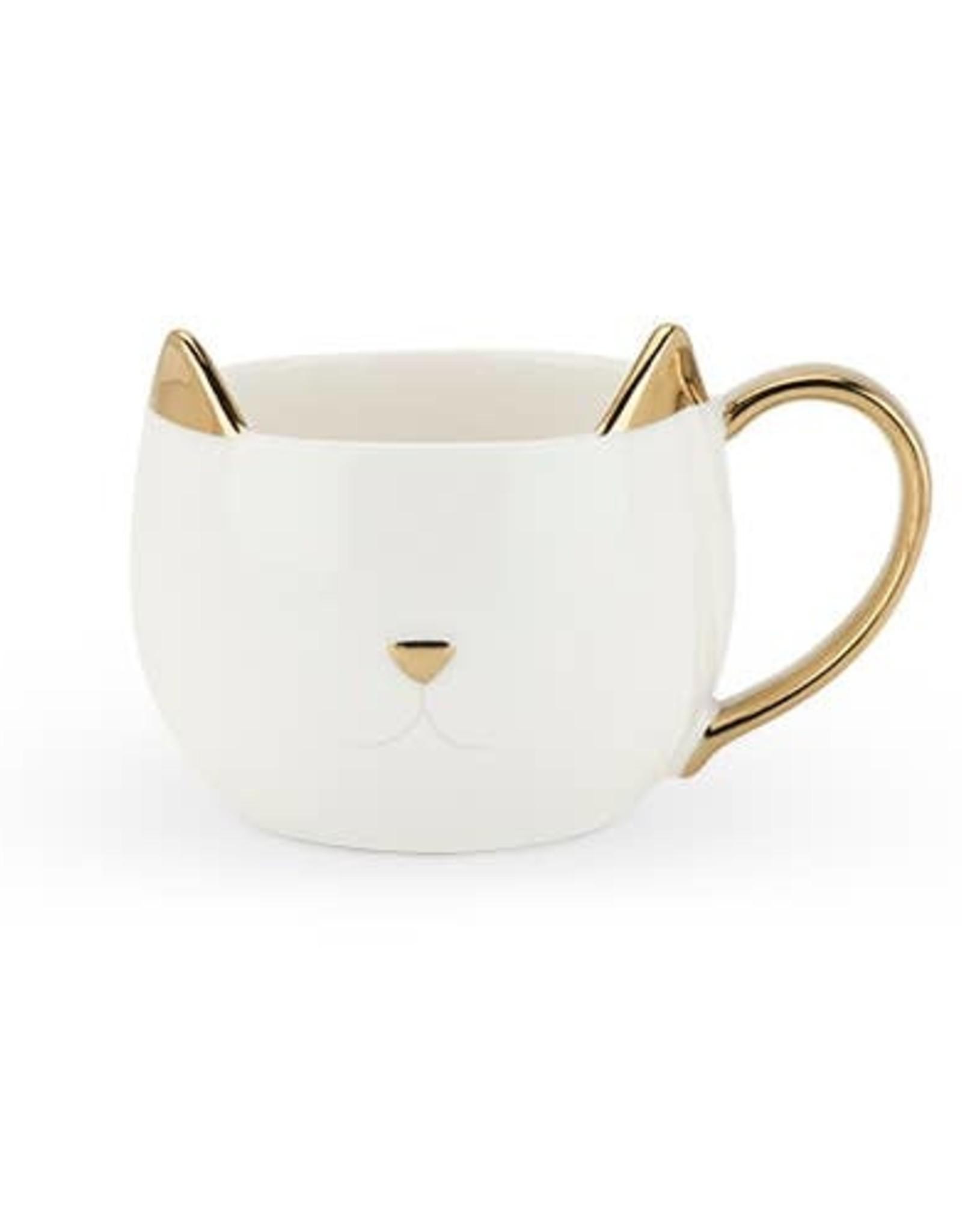 Pinky Up Chloe White Cat 12 oz. Mug