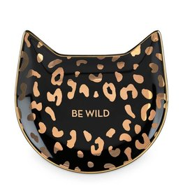 Pinky Up Black Leopard Be Wild Tea Tray