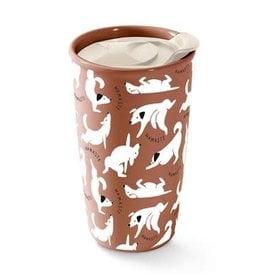 Pet Shop by Fringe Studio Fringe Studio Namaste Dogs Travel Mug