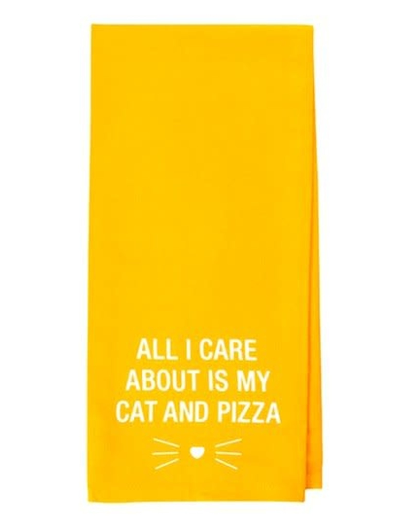 About Face Designs About Face Designs Tea Towel Cat And Pizza