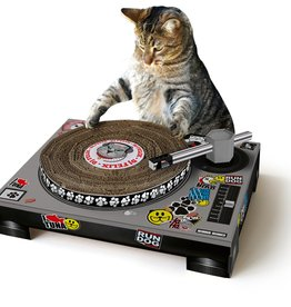 Suck UK Cat Playhouse Cardboard Scratch Pad - DJ Booth