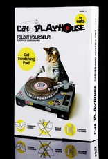 Suck UK Cat Playhouse Cardboard Scratch Pad - DJ Booth