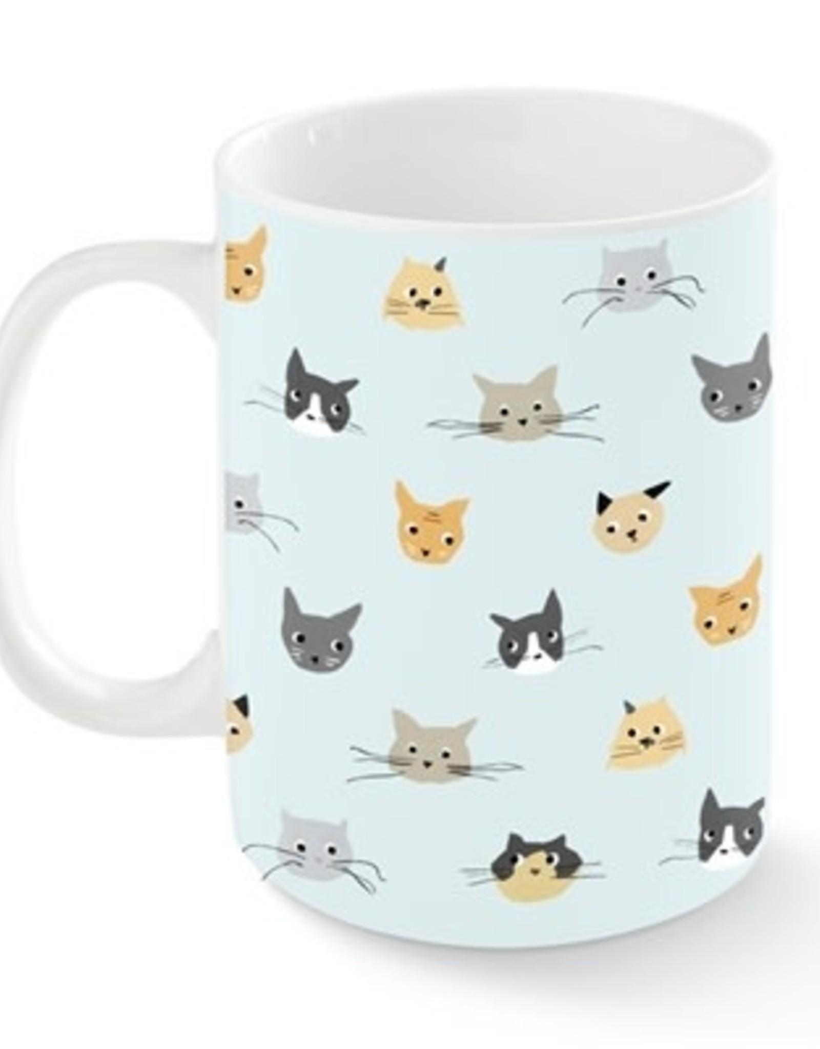 Pet Shop by Fringe Studio Cat Heads Kansas Mug