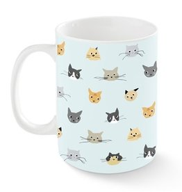 Pet Shop by Fringe Studio Cat Heads Kansas Mug