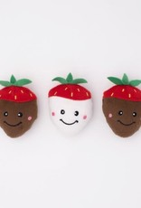 ZippyPaws Zippy Paws Miniz 3-Pack Chocolate Covered Strawberries