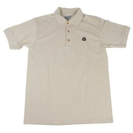Identity iD Embroidered Polo - Sand