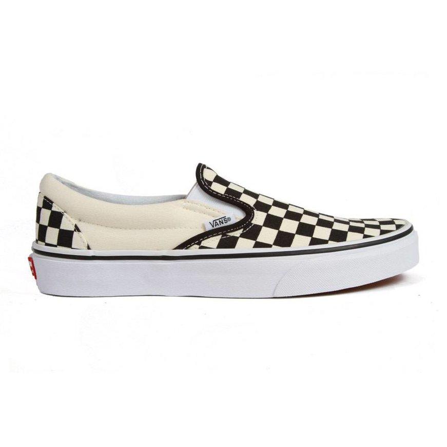Vans Classic Checkerboard Slip-On  - Black/Off White
