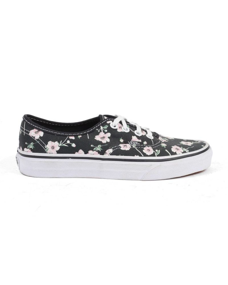 Vans Authentic Vintage Floral - Blue Graphite/Pink Flower Pattern
