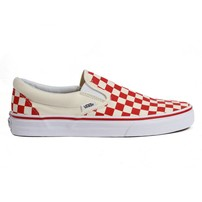 Vans Classic Checkerboard Slip-on - Red/Off White