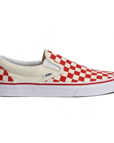 fa02fb49278a3 Vans Classic Slip-on Checkerboard - Red/Off White - Identity Boardshop