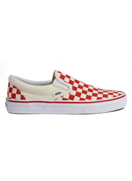 Vans Classic Checkerboard Slip-on - Red/White