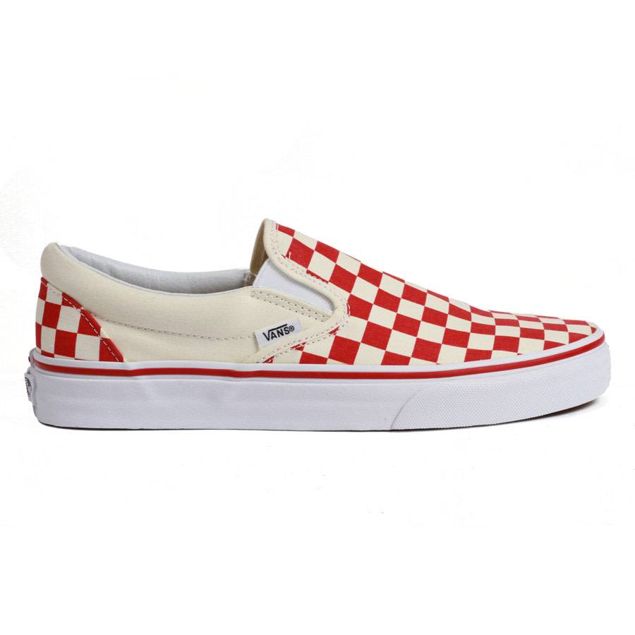 Vans Classic Slip-on Checkerboard - Red