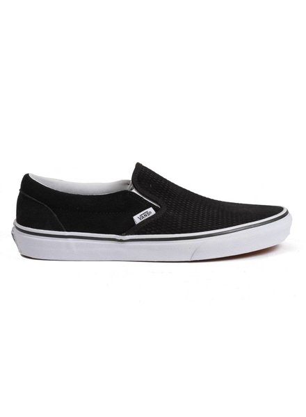 Vans Classic Embossed Suede Slip-On - Black / White