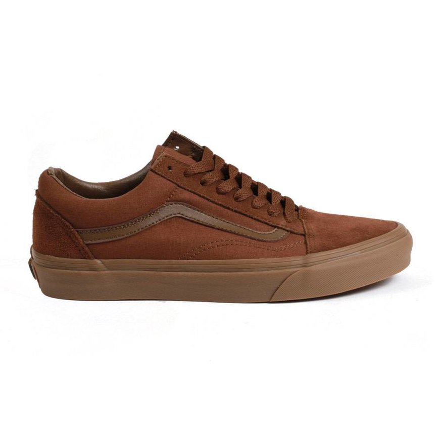 b84e5409d2f Vans Old Skool - Suede Canvas Brown - Identity Boardshop