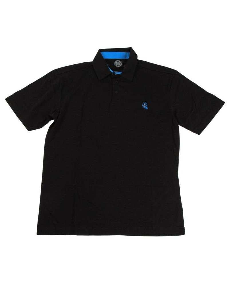 Santa Cruz Skateboards Black Screaming Hand Polo