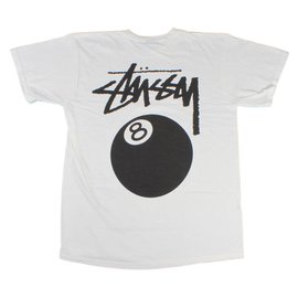 Stüssy 8 Ball Tee - White