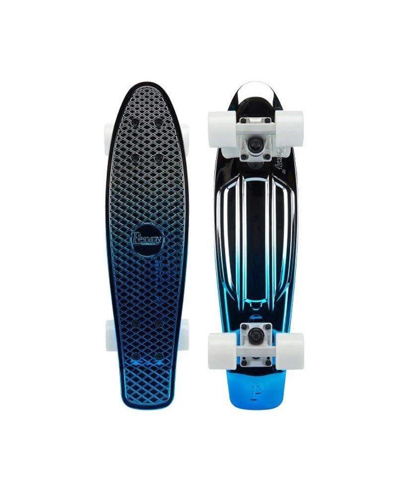 """Penny Skateboards Metallic Blue Silver Fade (22"""") - Complete PennyBoard"""